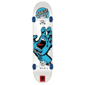 Santa Cruz Screaming Hand Complete Skateboard - White 7.75